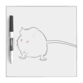 animal que se lava del esquema borroso del ratón pizarras blancas