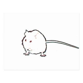 animal que se lava del esquema borroso del ratón postal