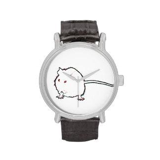 animal que se lava del esquema borroso del ratón relojes de pulsera