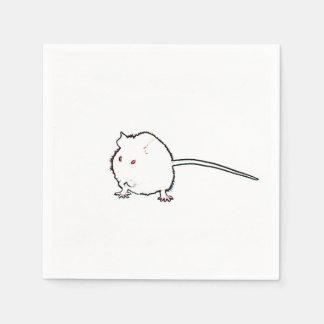 animal que se lava del esquema borroso del ratón servilletas desechables