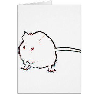 animal que se lava del esquema borroso del ratón tarjeta de felicitación