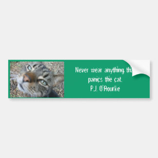 Animal quotes - from P. O'Rourke- Bumper Stickers