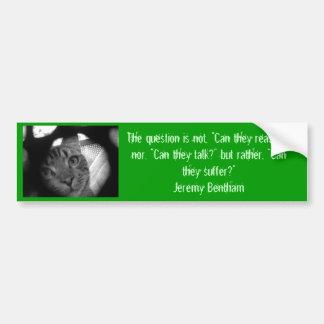 Animal quotes - Jeremy Bentham 2 bumper sticker Car Bumper Sticker