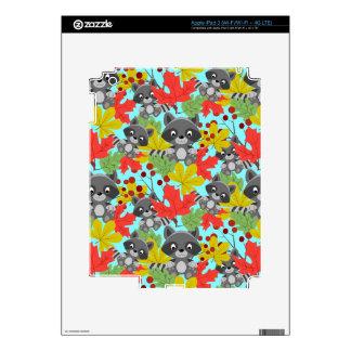 animal raccoon pattern iPad 3 decals
