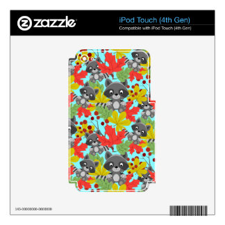 animal raccoon pattern iPod touch 4G skins