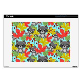 """animal raccoon pattern skin for 15"""" laptop"""