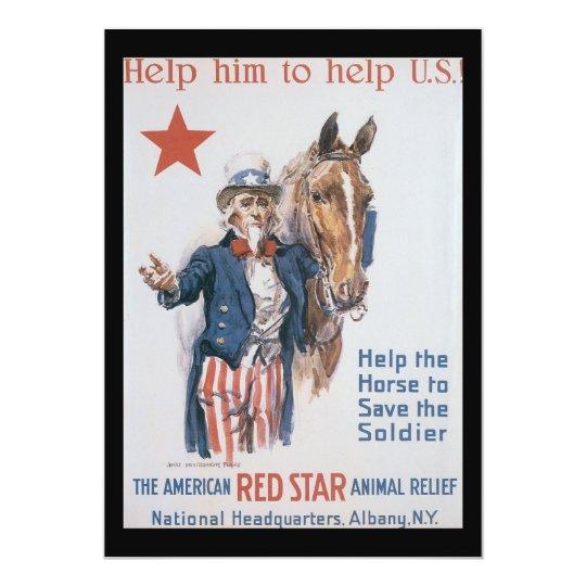 Animal Relief World War II Card
