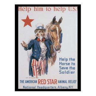 Animal Relief World War II Post Card
