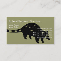 Animal Removal Business Cards