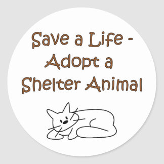 Animal Rescue/Adoption Shelter Cat Classic Round Sticker