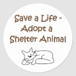 Animal Rescue/Adoption Shelter Cat Classic Round Sticker