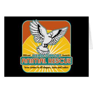 Animal Rescue Bird Card