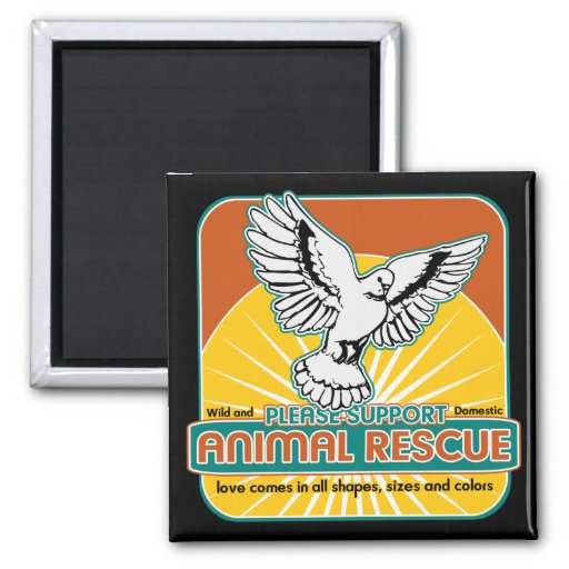 Animal Rescue Bird Fridge Magnets