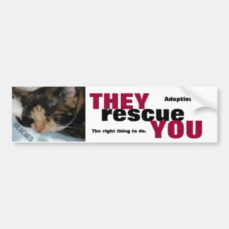 ANIMAL RESCUE BUMPERSTICKER BUMPER STICKERS