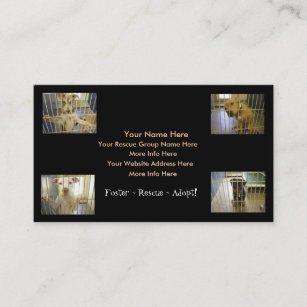 Foster adoption business cards zazzle animal rescue business cards fosterrescueadopt colourmoves