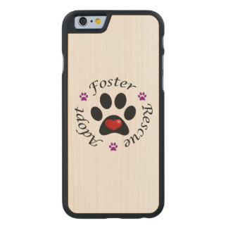 Animal Rescue Carved® Maple iPhone 6 Case