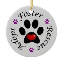 Animal Rescue Ceramic Ornament