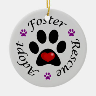 Animal Rescue Ceramic Ornament