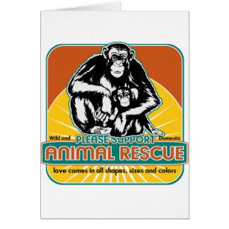 Animal Rescue Chimpanzee Card