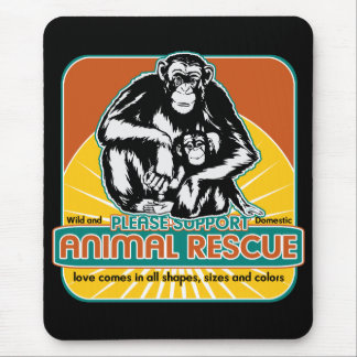 Animal Rescue Chimpanzee Mouse Pad