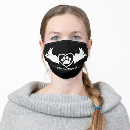 Animal Rescue Cloth Face Mask Heart_Wing_Paw