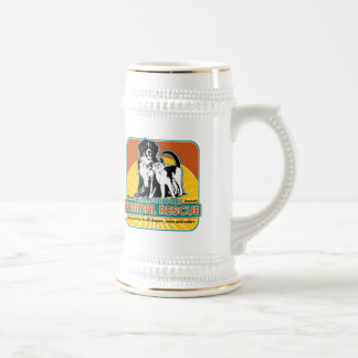Animal Rescue Dog and Cat Beer Stein