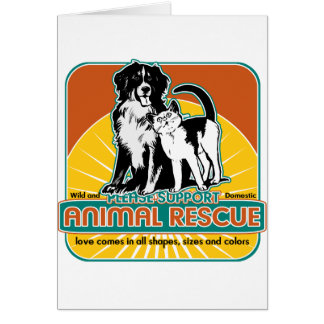 Animal Rescue Dog and Cat Card
