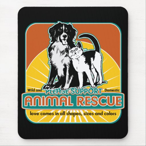 Animal Rescue Dog and Cat Mouse Pad
