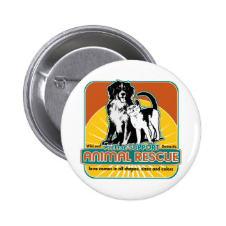 Animal Rescue Dog and Cat Pinback Button