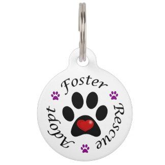 Animal Rescue Dog Tag