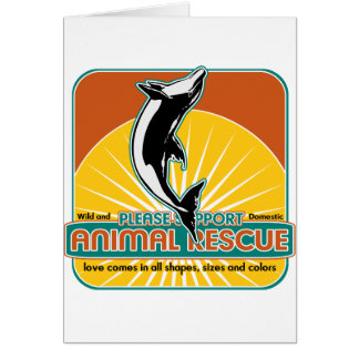 Animal Rescue Dolphin Card