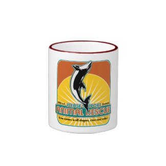 Animal Rescue Dolphin Ringer Coffee Mug