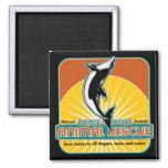 Animal Rescue Dolphin Refrigerator Magnets