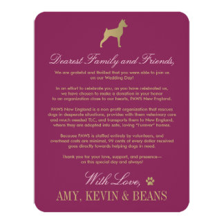 Animal Rescue Donation Card | Dog Design