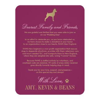 Animal Rescue Donation Card   Dog Design