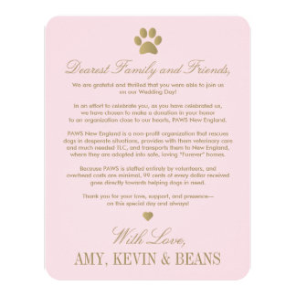 Animal Rescue Donation Card | Paw Print Design