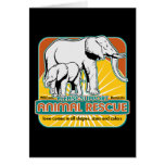 Animal Rescue Elephants Greeting Card