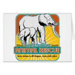 Animal Rescue Elephants Greeting Cards