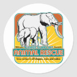 Animal Rescue Elephants Round Sticker