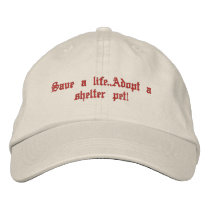 Animal rescue embroidered baseball hat