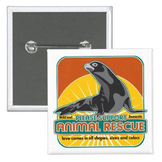 Animal Rescue Fur Seal Pinback Button