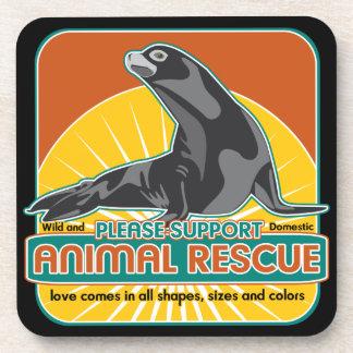 Animal Rescue Fur Seal Beverage Coaster