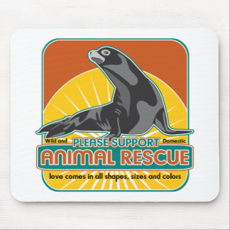 Animal Rescue Fur Seal Mouse Pad
