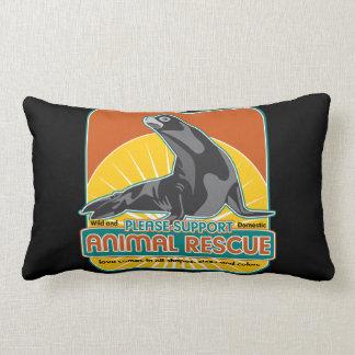 Animal Rescue Fur Seal Throw Pillows