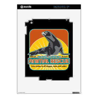 Animal Rescue Fur Seal Skins For iPad 2
