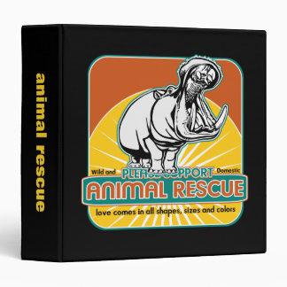 Animal Rescue Hippopotamus Binders