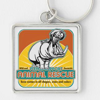 Animal Rescue Hippopotamus Keychain
