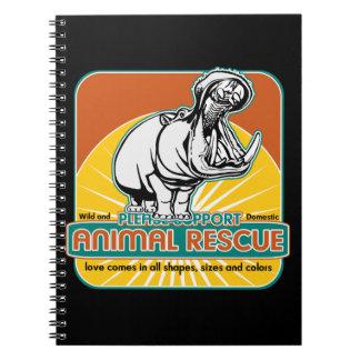 Animal Rescue Hippopotamus Spiral Notebook