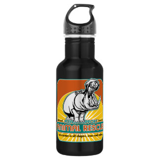 Animal Rescue Hippopotamus Water Bottle