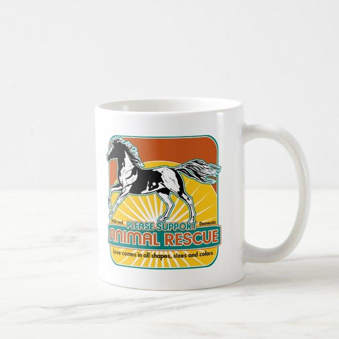 Animal Rescue Horse Coffee Mug